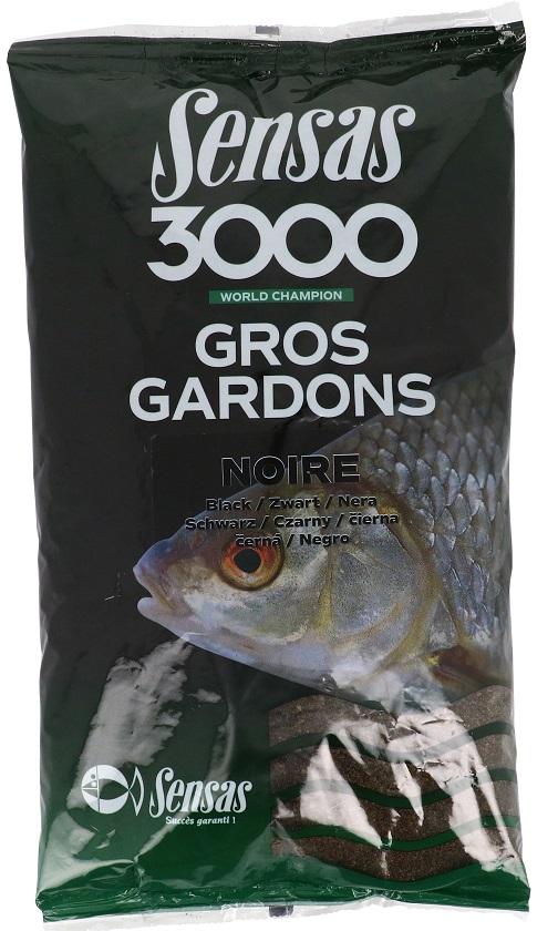 Krmení 3000 Gros Gardons Black (velká plotice-černé) 1kg