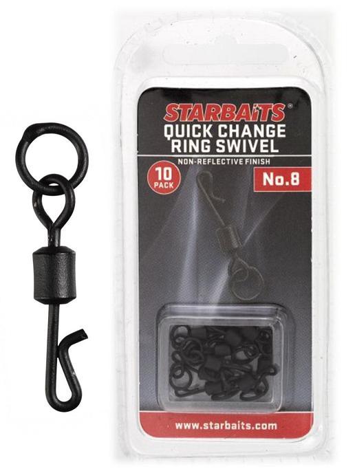 Obratlík s kroužkem - Quick Change č.8 (10ks)