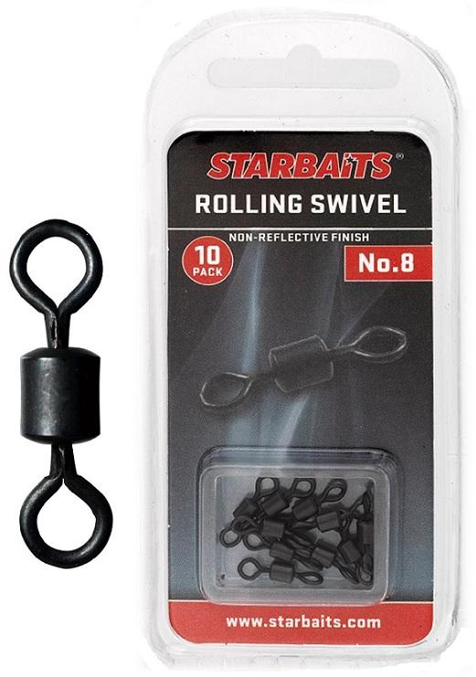 Obratlík - Rolling Swivel č.8 (10ks)