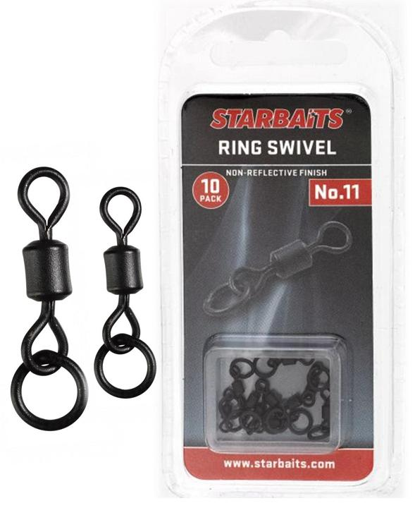Obratlík s kroužkem - Ring Swivel č.11 (10ks)
