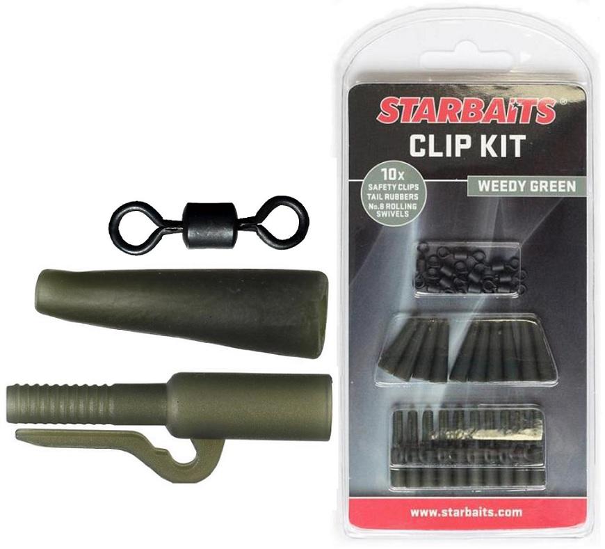 Clip Kit Set závěs na olovo (10ks) zelená