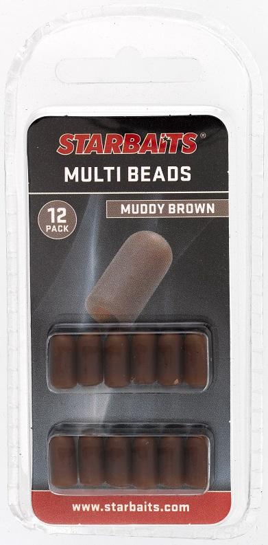 Multi Beads hnědá (převleky) 12ks