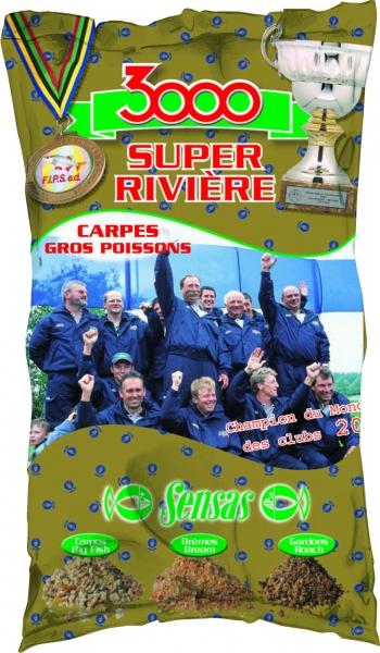 Krmení 3000 Super Riviere Carp (řeka-kapr) 1kg