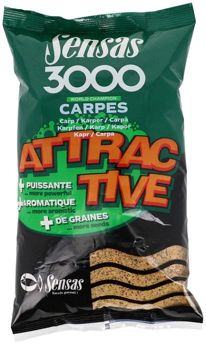 Krmení 3000 Attractive Carp (kapr) 1Kg