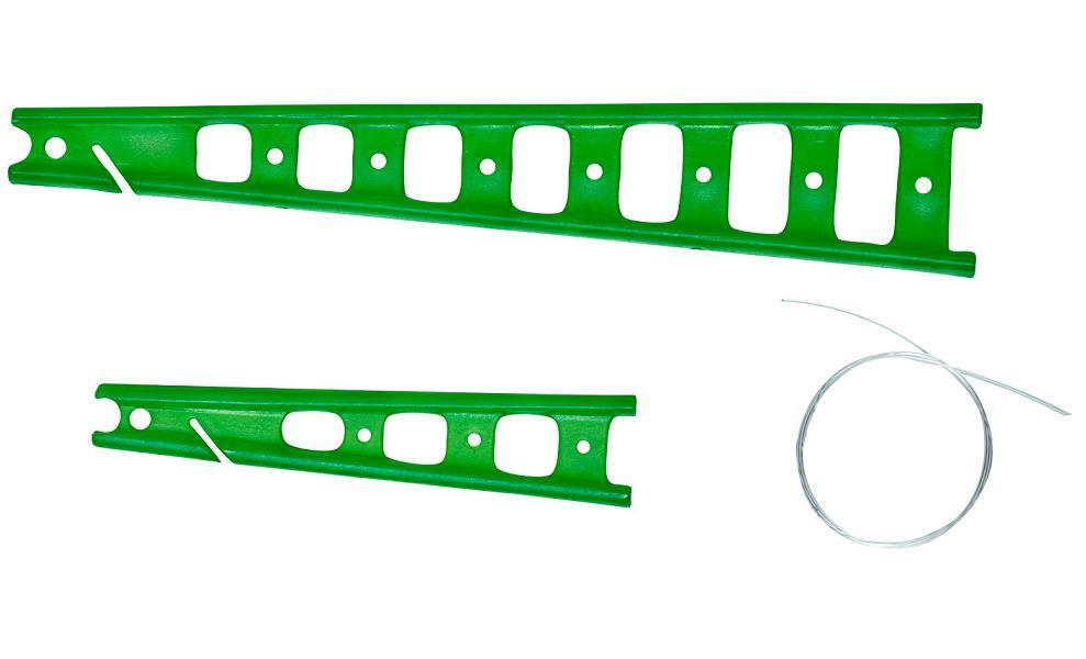 Kostřička na amortizér 2.díl zelená (2ks)
