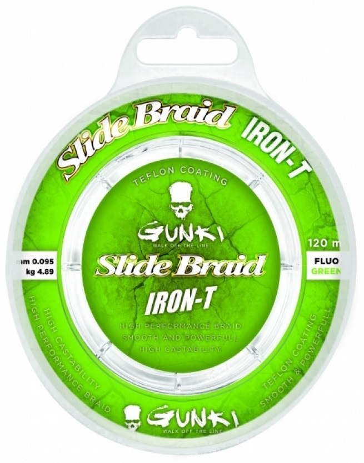 Slide Braid Iron-T 120M Fluo Green 0,223mm