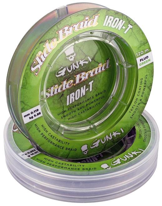 Slide Braid Iron-T 120M Fluo Green 0,252mm