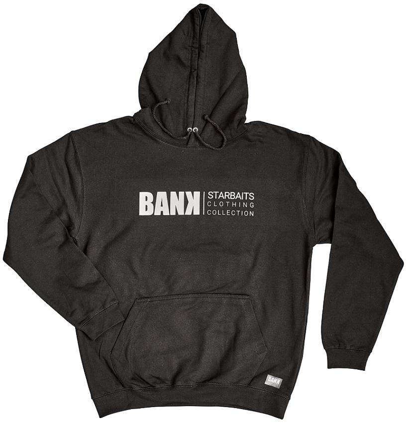 Mikina Bank Black Hoodie  M