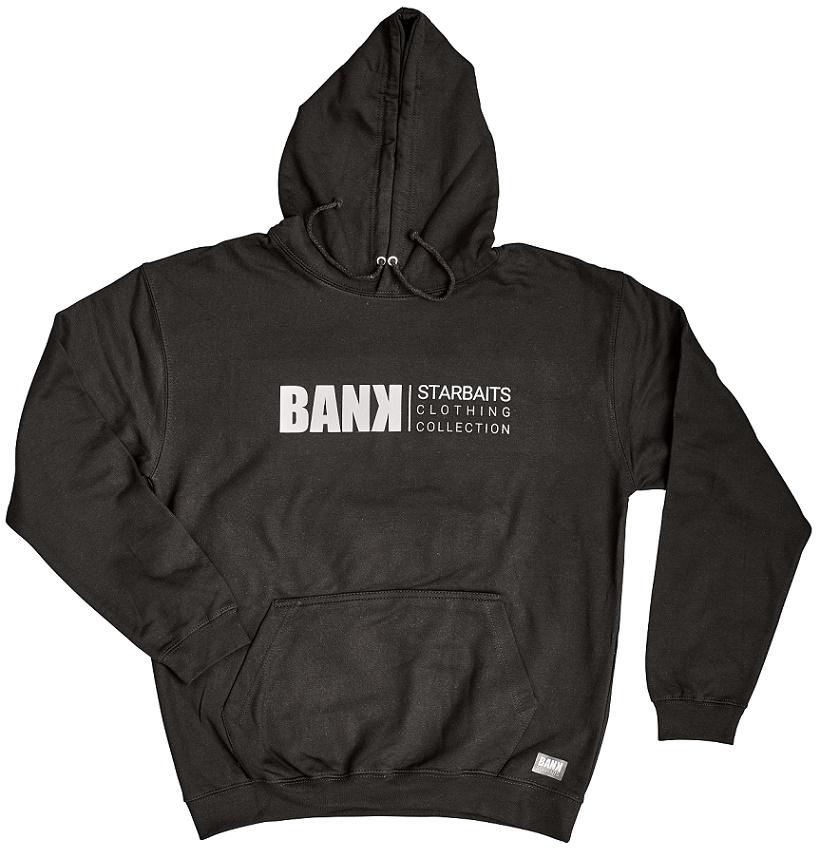 Mikina Bank Black Hoodie  L