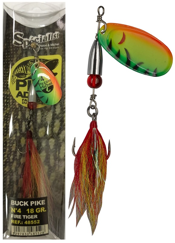 Rotačka Buck Pike 20g Fire Tiger