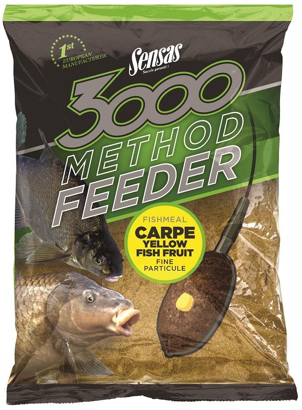 Krmení 3000 Method Carpe Yellow 1kg