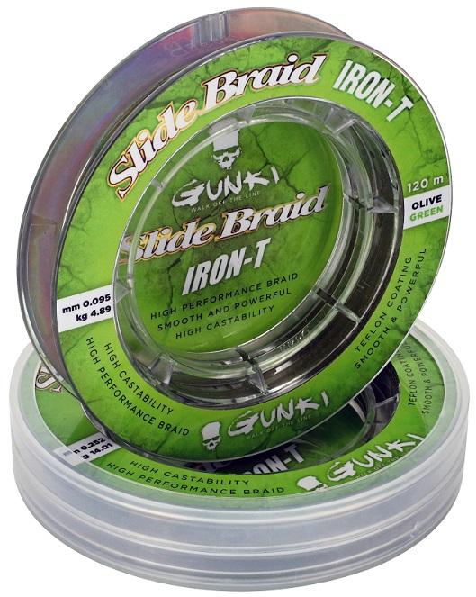 Šňůra Gunki Slide Braid Iron-T 120M Olive Green