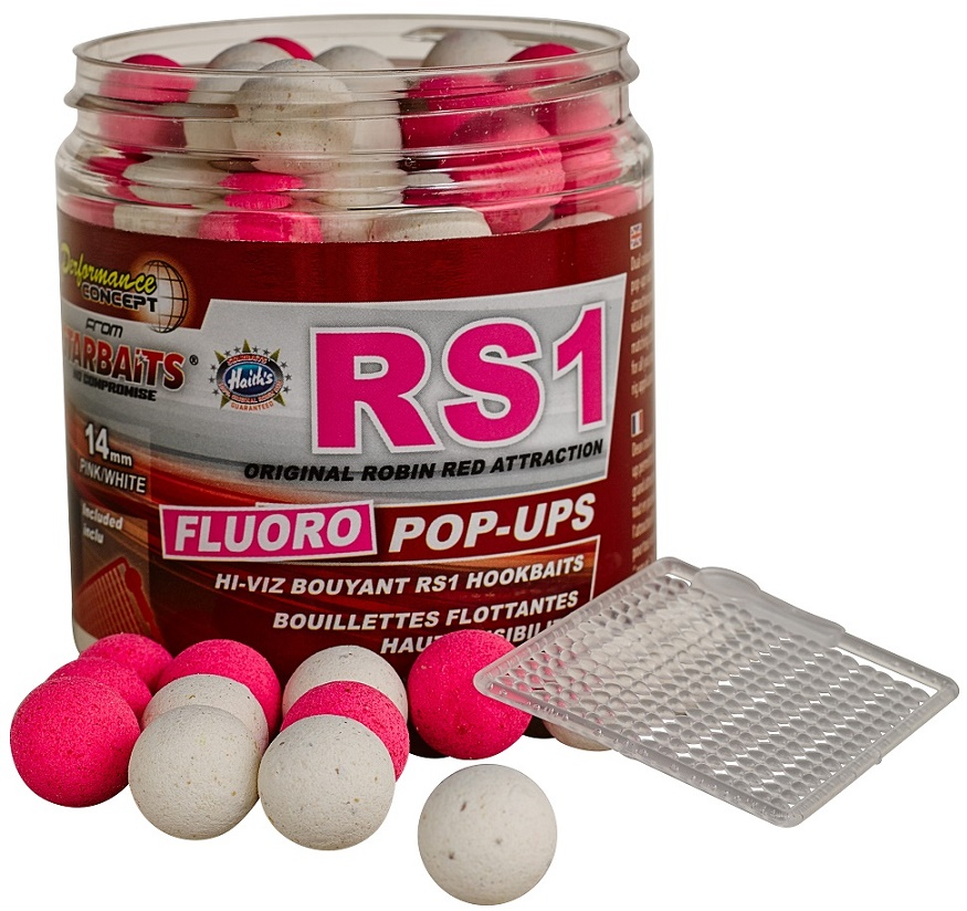 Plovoucí boilies Fluo STARBAITS RS1 80g