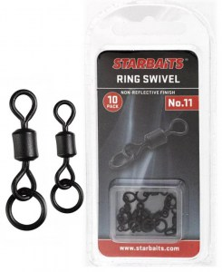 Obratlík s kroužkem - Ring Swivel č.8 (10ks)