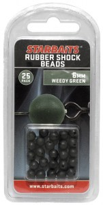 Rubber Shock Beads 6mm zelená (gumová kulička) 25ks