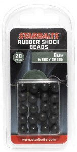 Rubber Shock Beads 8mm zelená (gumová kulička) 20ks