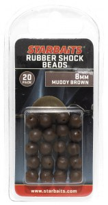 Rubber Shock Beads 8mm hnědá (gumová kulička) 20ks