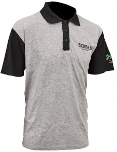Tričko Polo Club Bicolore Grey & Black 4XL