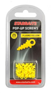 Pop Up Screws žlutá (úchyt na plovoucí boilie) 25ks