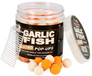 Plovoucí boilies Fluo STARBAITS Garlic Fish 80g